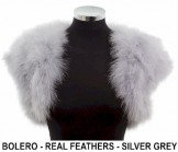 Real Feather Bolero Grey