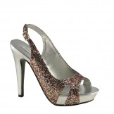 CINNAMON 352 by Touch Ups Multi Glitter Bridesmaid or Party Shoes NEW