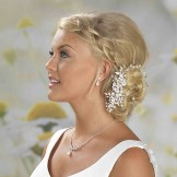 Pearl and Diamante Bridal Hair Vine on a Comb Linzi Jay LP675