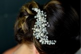 Diamante and Pearl wedding Hair Comb TLH3062