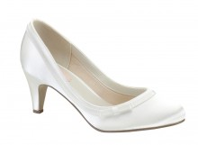 Dahlia, low heel court shoe with side bow