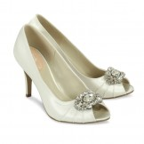 Ivory Satin Wedding Shoes Paradox Pink Tender