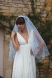 Joyce Jackson Ivory Tulle Wedding Veil Antigua with Scattered Diamante