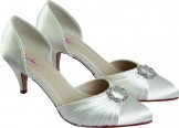 Tanya open sided medium heel Bridal shoe