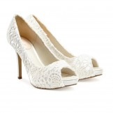 Ivory Lace Wedding Shoes Paradox Pink Obsession