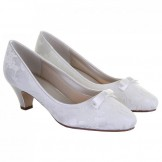 Rainbow Club Ivory Dyeable Lace Wedding Shoes Patsy