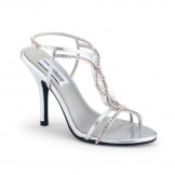 Silver Wedding Sandals Striking by Dyeables SALE
